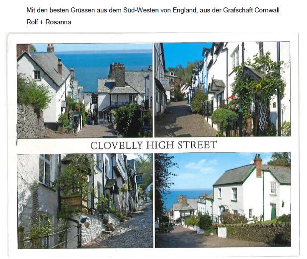Grüsse von Rolf aus Cornwall