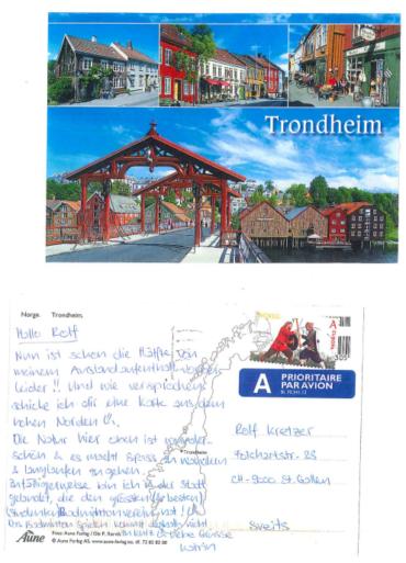 Grüsse von Katrin aus Trondheim