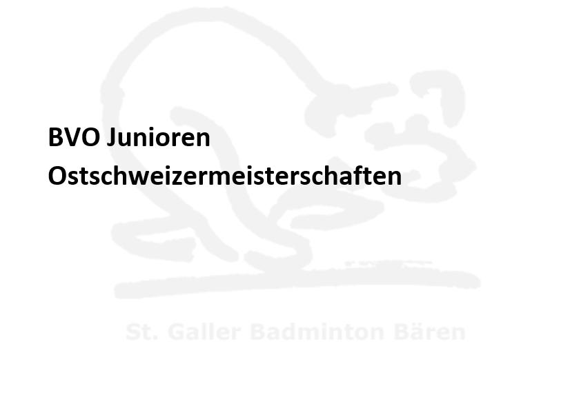 """<span class=""""caps"""">BVO</span> Junioren Ostschweizermeisterschaften"""